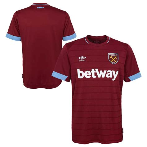 umbro west ham fc home 19 jersey choozily