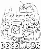 Coloring Pages December Months Month Winter Activities Bestcoloringpagesforkids sketch template