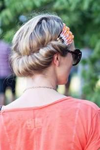 Headband Hair Wrap Hairstyle