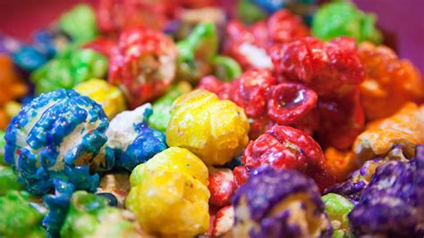 colored popcorn how to make colorful popcorn bites
