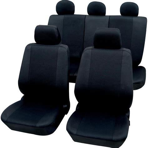 siege conducteur housse de siège 11 pièces petex 26174804 polyester noir