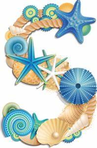 arana 2 alpha blue numeros y With beach letter art