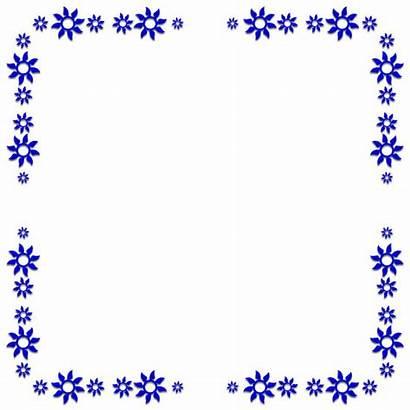 Border Borders Flower Pinwheel Frames Clipart Frame