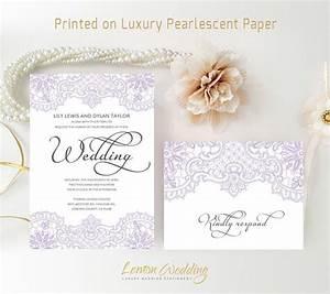 purple wedding invitations printed on luxury shimmer paper With wedding invitations on shimmer paper