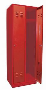 Armoire Métallique Vestiaire : vestiaire m tallique 2 portes armoire de rangement ~ Melissatoandfro.com Idées de Décoration