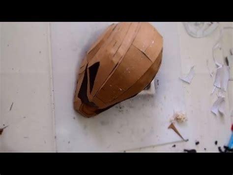 cardboard armor template 94 ironman ultron helmet part 1 cardboard papermache free template how to diy