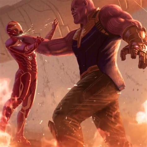 Iron Man Vs Thanos!  Marvel Famous Battles Pinterest