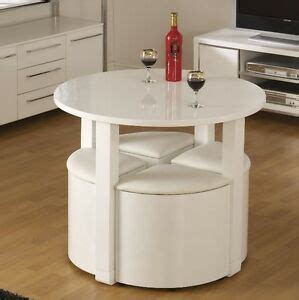 space saving dining table small breakfast room white high gloss and 4 chairs ebay
