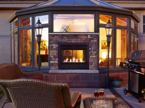 New Heat & Glo Indoor Outdoor Fireplace With Safe Exterior