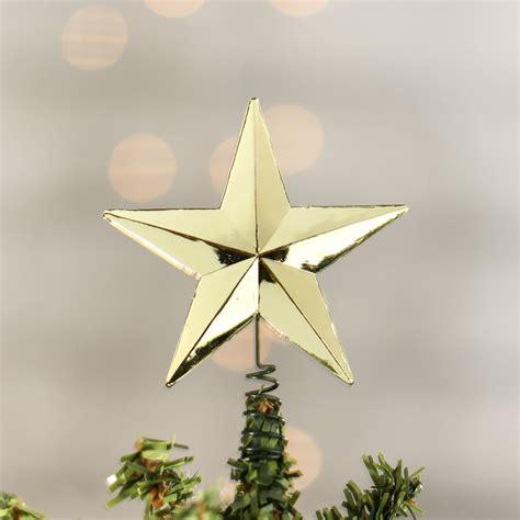 miniature metallic gold star tree topper christmas