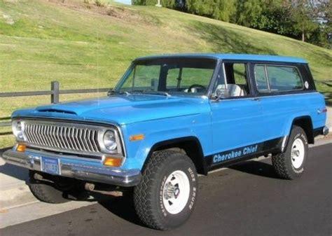 jeep cherokee chief blue blue plate survivor 1977 jeep cherokee chief v8 bring a