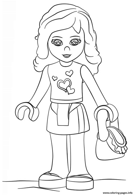lego friends olivia girl coloring pages printable