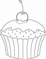 Cream Pages Wafer Whipped Coloring Muffin Ice Served Cone Kawaii Cherry Coloringpagesonly sketch template