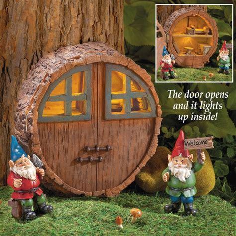 mini outdoor solar gnome house fresh garden decor