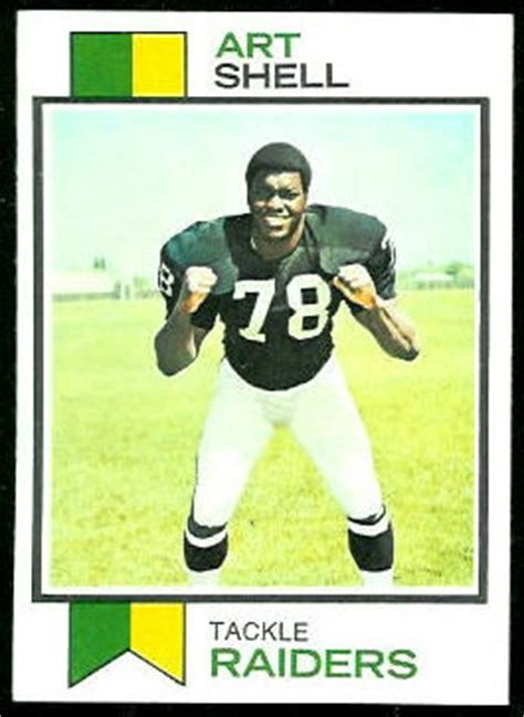 art shell rookie card  topps  vintage football