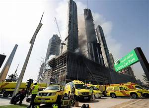 Dubai highrise complex burns in fire near world's tallest ...