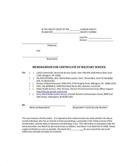 army memo sample  documents   word google docs
