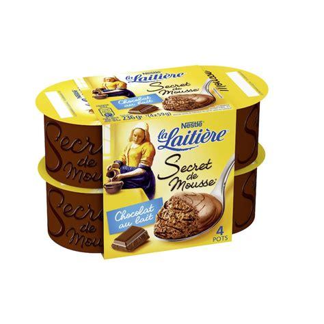 nestle dessert mousse au chocolat nestl 233 la laiti 232 re secret de mousse au chocolat 4x59g cr 232 me mousse desserts cr 232 me