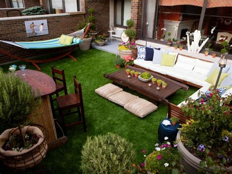 eclectic enclosed patio  hammock  sectional hgtv