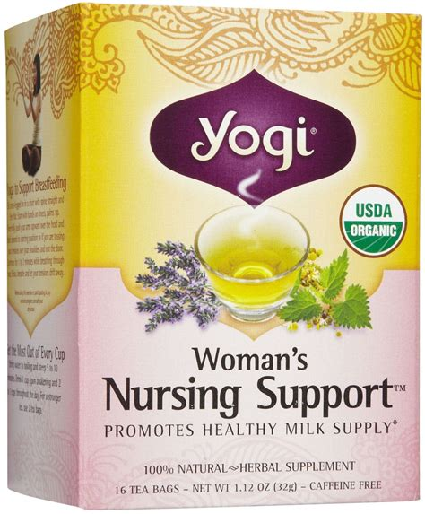 Yogi Tea Womans Nursing Support Herbal Supplement Tea