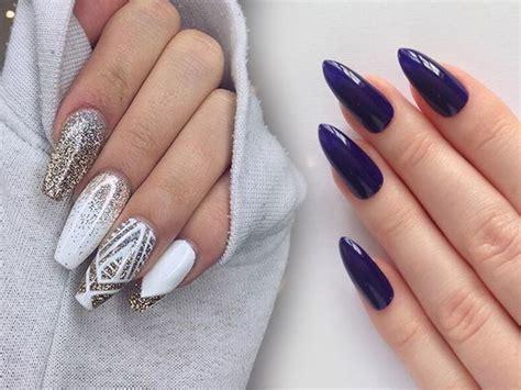 Маникюр на миндалевидные ногти 2020 фото новинки модного и красивого дизайна .