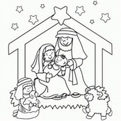 HD Wallpapers Coloring Pages Christmas Nativity Scene
