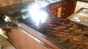 comptoir epoxy, epoxy countertop - YouTube