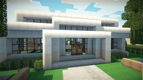 minecraft small modern house