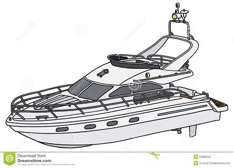 motor boat clipart black and white motor yacht stock vector image 50886252