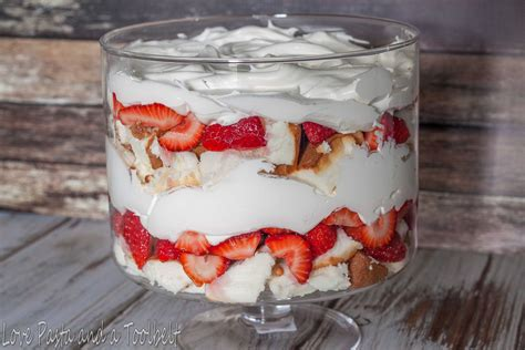 dessert with strawberries strawberry trifle dessert love pasta and a tool belt