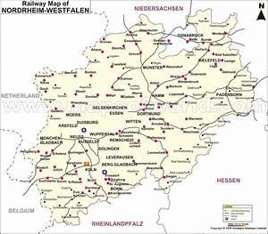 Nord Rhein Westfalen : nordrhein westfalen railway map ~ Buech-reservation.com Haus und Dekorationen
