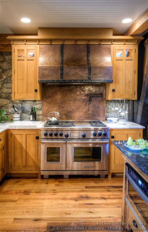kitchen backsplash ideas for light wood cabinets mission style kitchens designs and photos