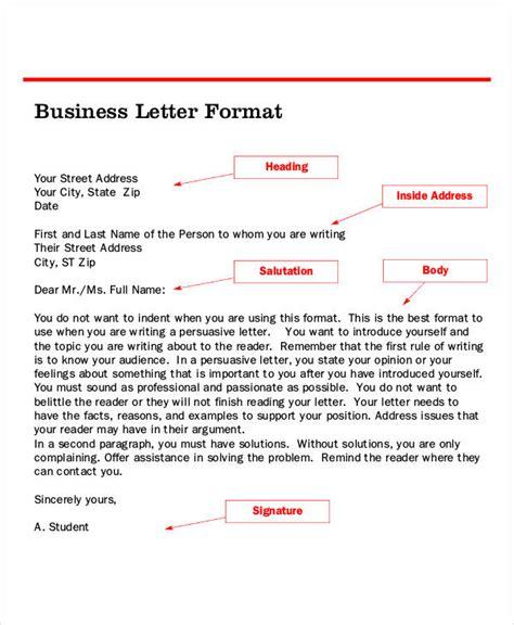 standard letter format letter format 46 free word pdf documents 27745