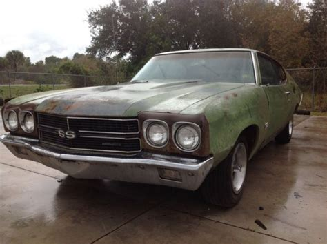 1970 Chevelle Ss 454, #'s Matching Ls5 Ls5, Partial Build