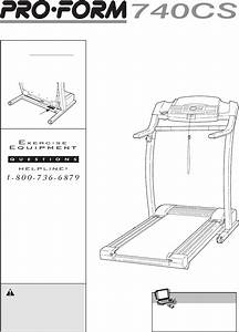 Download Proform Treadmill 740cs Manual And User Guides