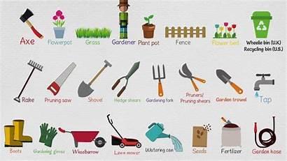 Tools Garden Gardening Names Agricultural Tool 7esl