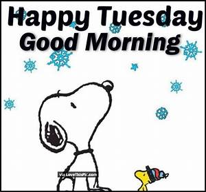 Good Morning Snoopy : snoopy happy tuesday good morning image pictures photos and images for facebook tumblr ~ Orissabook.com Haus und Dekorationen