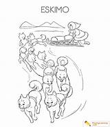 Eskimo Coloring Igloo Pages Sheet Date Learning sketch template