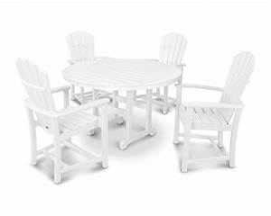 dining set with table 122 cms 4 arm chairs hdpe plastic With tisch höhe