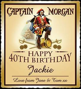 personalised captain morgan spice bottle label birthday With captain morgan label template