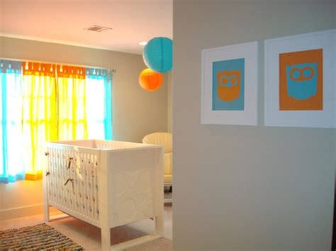 chambre bebe orange decoration chambre bebe orange visuel 7