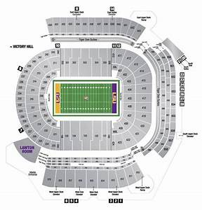 Tiger Stadium Baton Seating Chart Tiger Stadium Seating Chart Lsu Football Lsu Football