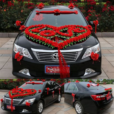 new style luxury wedding car decoration heart quot love quot wedding car flower decorative