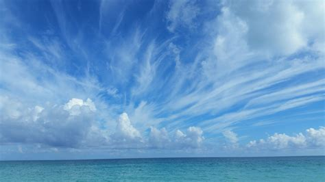gambar pemandangan laut pantai lautan horison sinar