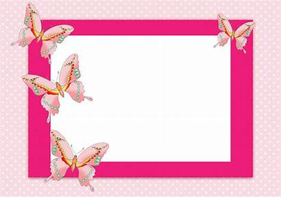 Butterfly Border Clipart Frame Purple Lines Borders