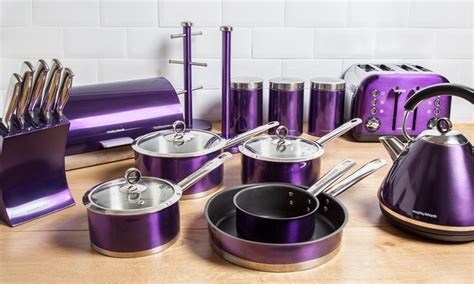purple accessories for kitchen morphy richards kitchen set groupon 4448