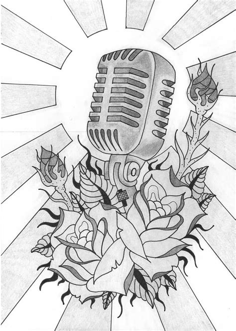 17+ Microphone Tattoo Drawings