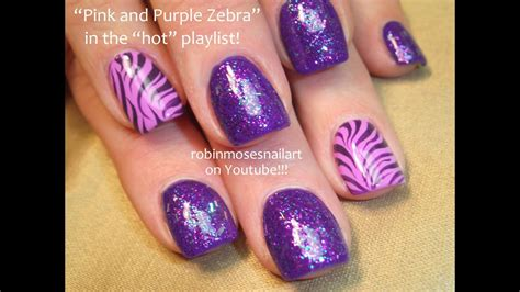 Design Purple And Pink by 2 Nail Tutorials Easy Nail For Beginners Pink