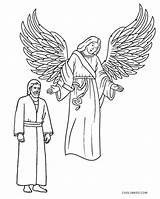 Angel Coloring Pages Joseph Printable Visits Cool2bkids sketch template