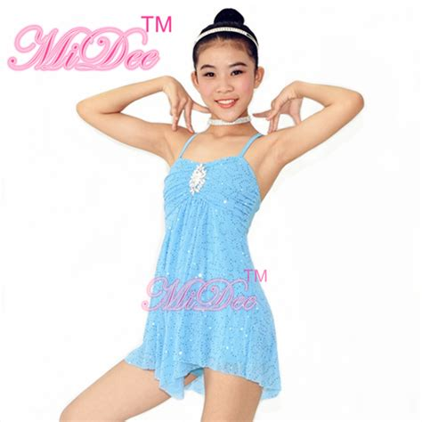 light blue lyrical costume sequins figure skating dress lyrical ballet dance costumes